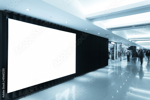 billboard in shopping mall corridor - 81661250