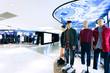 Leinwandbild Motiv fashion clothes shopfront in shopping mall