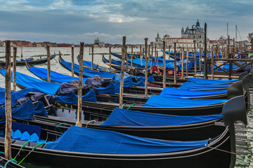Gondolas in Venice (filtered)