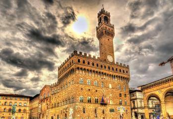 Palazzo Vecchio, the city hall of Florence - Italy