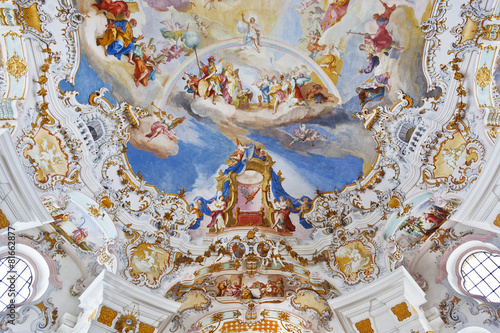 wieskirche church in bavaria - 81662877