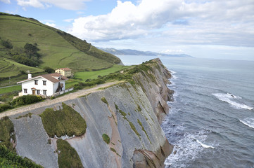 Cliff formed by the Flysch, Northern Spain