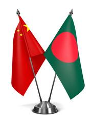 China and Bangladesh - Miniature Flags.