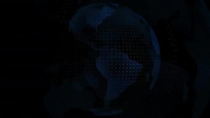 World map blue color transparent