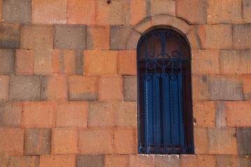 window and wall of church in Armenia
