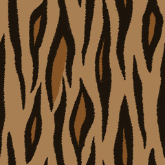 Tiger skin. Seamless patterns