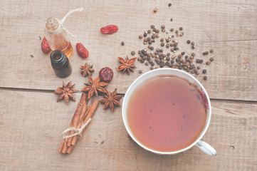Tea and dried ingredients