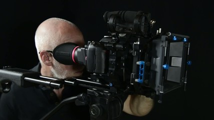 cameraman with a professional camera