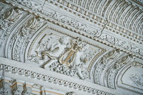 Leinwanddruck Bild The mansion Brusnicyna in St. Petersburg.Interior.White hall.