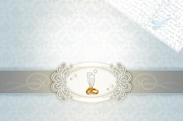 Wedding invitation template.