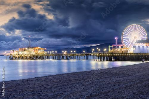 Fotobehang Los Angeles Santa Monica beach