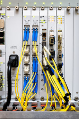 Fiber optic connecting on core network swtich
