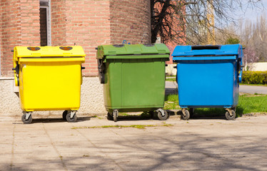 Containers for separating and recycling waste
