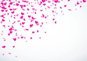 Herzkonfetti Pink