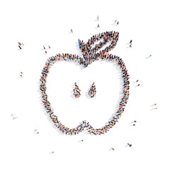 people in the form of an apple.