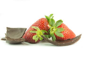 Fragole con pezzi di cioccolata