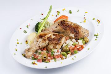 Grilled chicken steak