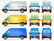 Vector Delivery Van - Side - Front - Rear view - 81669421