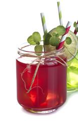 Drinks in Mason Jar