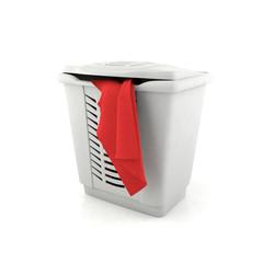 Laundry basket isolated in white background