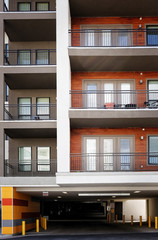 Modern apartments with garage on ground floor