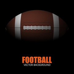 Realistic american football. Vector background.