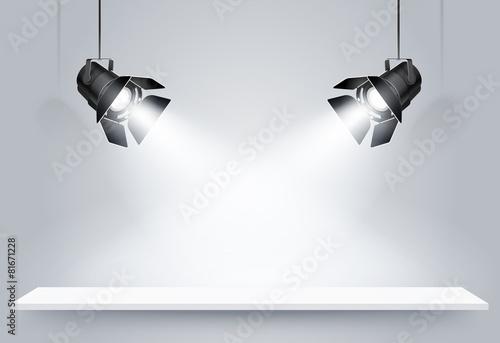 Black lamps. Vector