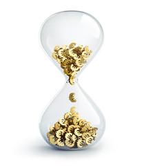 Zeit ist Geld - Motiv vor Weiss
