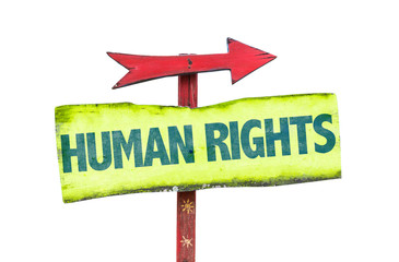 Human Rights sign isolated on white