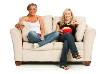 Fans: Women Sitting and Watching TV
