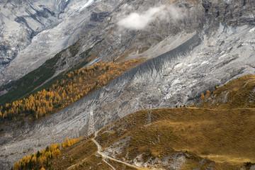 Death glacier on Italian Alps