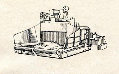 Asphalt surfacing machine