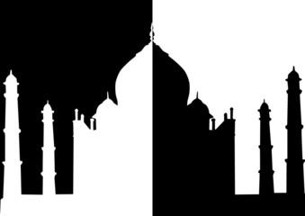 Taj Mahal en noir et en blanc