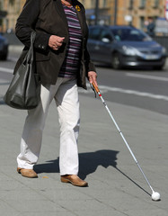 Blinde Frau