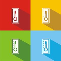Iconos termómetro comp colores sombra