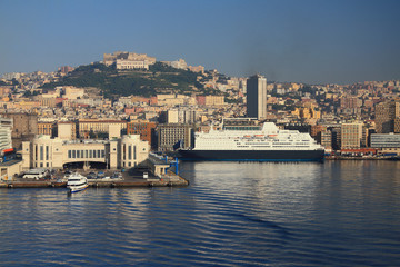 Cruise terminal, port and city. Naples, Italy