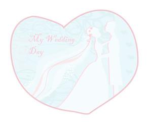 stylish wedding invitation card with vintage ornament background