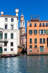 Beautiful grand canal scene in Venice, Italy