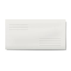 White DL envelope isolated