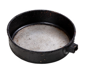 Old empty frying pan