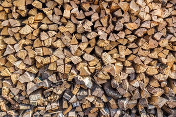 stacked logs of fire wood
