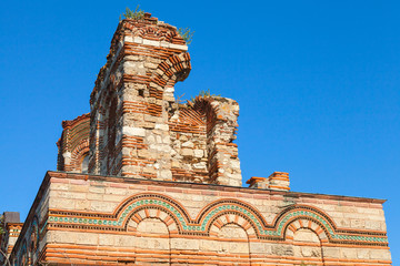 Ruined Church of Christ Pantokrator, in old Nessebar