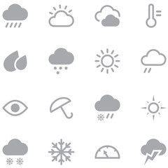 Set weather icons for web and mobile applications.