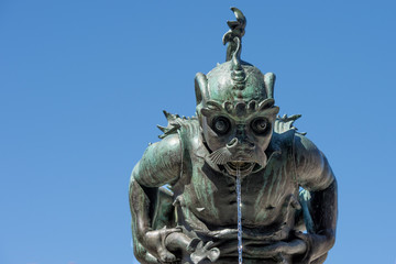 Gollum shape fountain statue in Florence