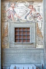 old orphanage door innocent wheel in Florence