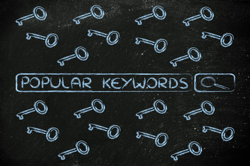 search engine bar with tags about the most searched keywords, su
