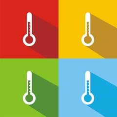 Iconos termómetro colores sombra