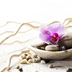 symbols of purity with stones and pebbles