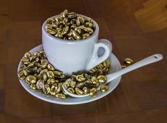 golden coffe bean