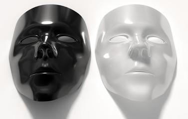 Masken schwarz weiss